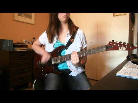 """Rebirthing"" (Skillet) lead guitar cover performed by Kierstyn St. John"
