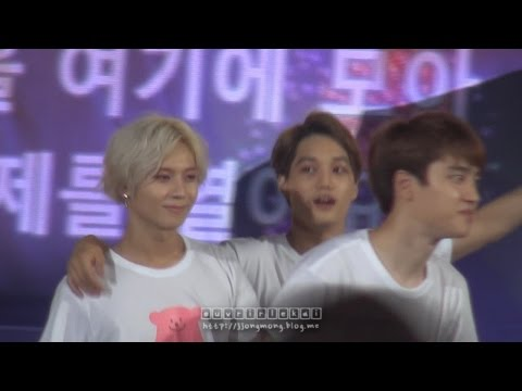 140815 SMTOWN live in seoul 빛 EXO 종인 KAI focus