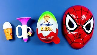 Learn Colors with Sizes with Toys & Candy  Colors for Children to Learn with Kids Spider man Mask