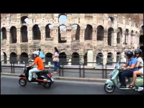 Vespa Tour, Rome, Italy