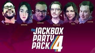 Polygon Plays JACKBOX PARTY PACK 4! Feat. Griffin, Simone, Justin, Tara, Jeff & Pat!