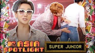 YESUNG Almost Gets Hit Trying To Propose To ELFs | SUPER JUNIOR Plays Jenga | Asia Spotlight