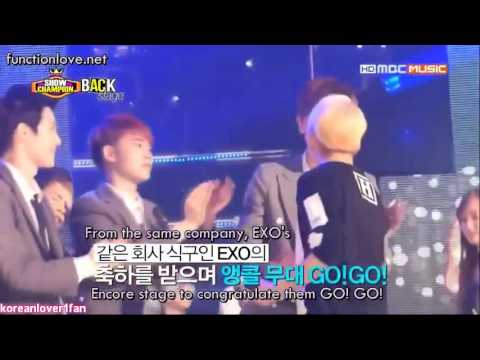 130807 EXO D.O PULLS AMBER IN A TIGHT HUG!