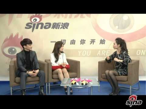 140214 Chen and Zhang Liyin @ Sina Entertainment Interview [Part 1]