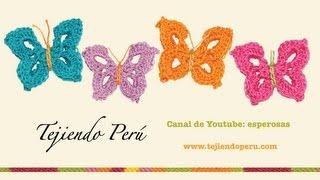 Mariposas En Crochet / English Subtitles: Crochet Butterfly - Tejiendo Perú