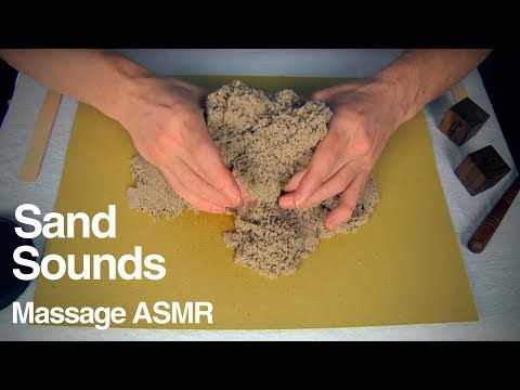 ASMR Creating Shapes with Kinetic Sand - Whispering Ear to Ear