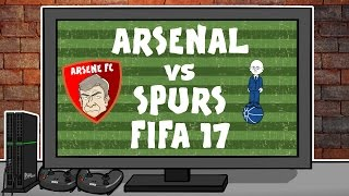 FIFA 17: Arsenal vs Tottenham! (Footballers Play FIFA 17 2016 North London Derby preview)
