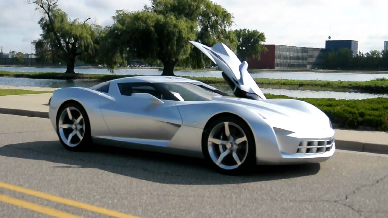 GM Corvette Stingray Concept Driven And Detailed - YouTube