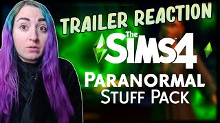 👻The Sims 4 Paranormal Stuff Pack: Official Reveal Trailer // REACTION & Info Overview