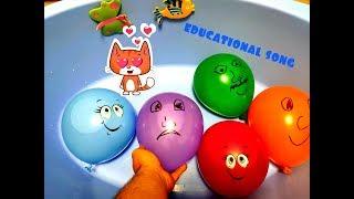 Wet balloons Funny smile balls Baby cartoons Educational video for children