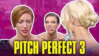 Ruby Rose Interrupts Brittany Snow & Anna Camp's Interview - Pitch Perfect 3 Cast Funny Moments