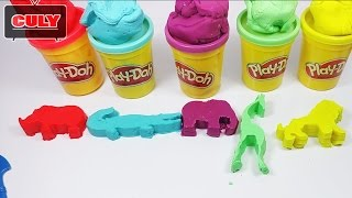Play Doh make and learning animals name by clay models