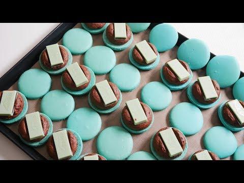 민트 초콜릿 마카롱 만들기 (이탈리안머랭) Mint Chocolate Macarons | 한세