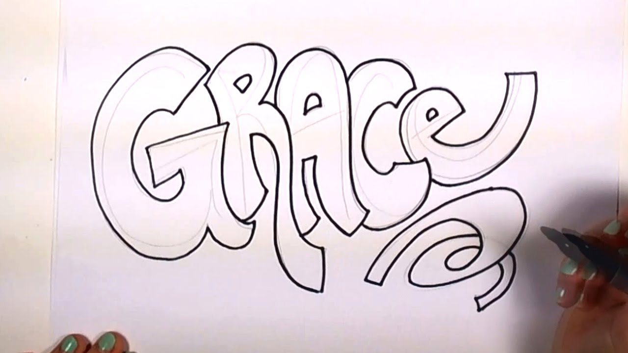 How to Draw Your Name Cool Letters - Grace in Graffiti Letters | MLT ...