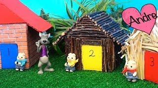 Cuento Los tres cerditos y el lobo feroz | Jugando muñecas y  juguetes con Andre para niñas y niños