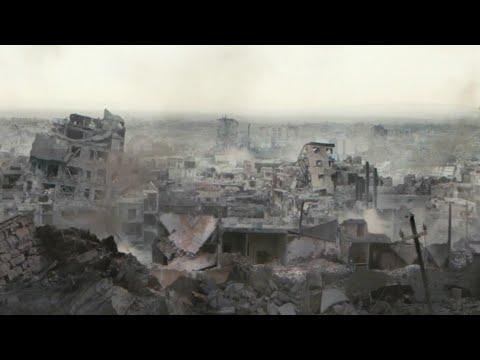 惨痛灾难还原,大地震突然夷平城市,无数人活埋废墟下!