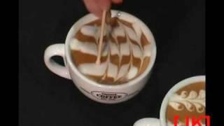 Malowanie na kawie (Painting on a coffee)