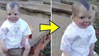 Chàng trai vào nghĩa địa vô tình phát hiện búp bê hình đứa bé, nhìn kỹ hơn anh lập tức 'lạnh người'