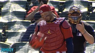 Yadier Molina tells runner to steal then throws him out, a breakdown