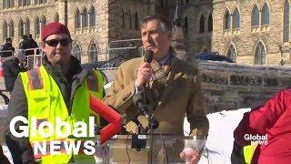 Maxime Bernier rallies against Trudeau, Scheer over pipeline stance
