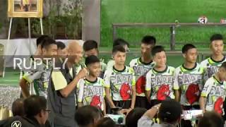Thailand: Boys rescued from Tham Luang cave talk to press after leaving hospital