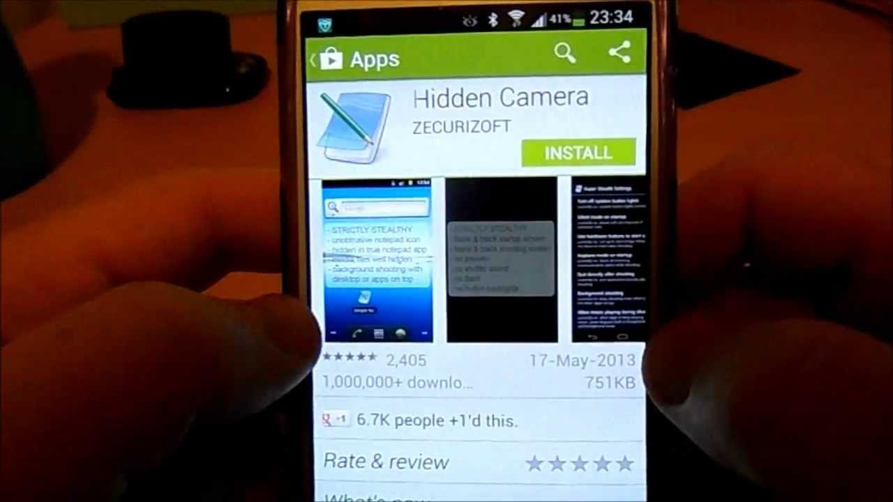 Android Spy Camera Apps that work directly on the phone