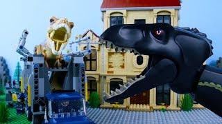LEGO Jurassic World STOP MOTION LEGO Jurassic World: T-Rex vs Indoraptor | LEGO | By Billy Bricks