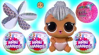 Real Looking Tiny Food 5 Mini Brands Blind Bag Balls + LOL Surprise Video