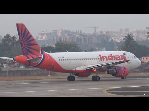 Very fast taxi and takeoff by Indian Airlines Airbus A319