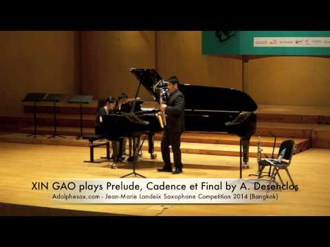 XIN GAO plays Prelude, Cadence et Final by A Desenclos