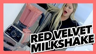 How to make a red velvet milkshake | iJustine