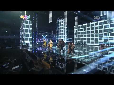 2NE1 [I love you] @SBS 2012 가요대전 The Color of K-pop 20121229