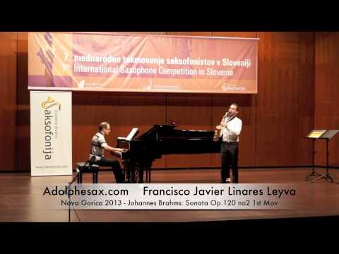 Francisco Javier Linares Leyva - Nova Gorica 2013 - Johannes Brahms: Sonata Op 120 no2 1st Mov