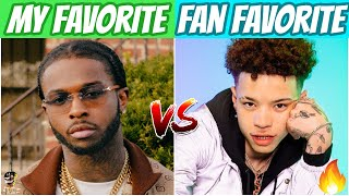 MY FAVORITE SONGS FROM ARTISTS vs FAN FAVORITES FROM ARTISTS! (Part 2)