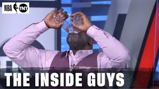 Shaq Takes On the Kawhi Water Bottle Challenge | NBA on TNT