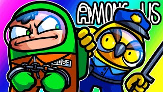 Among Us Funny Moments - Cops and Robbers Mod!