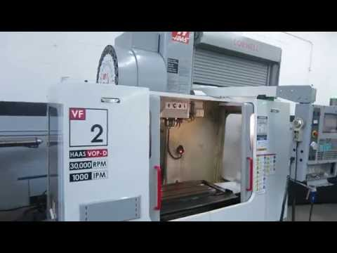 Haas VF-2 30,000 RPMVertical Machining Center Online Auction at www.machinesused.com