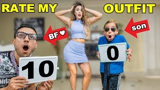 My SON and BOYFRIEND REACTS To My OUTFITS! | The Royalty Family