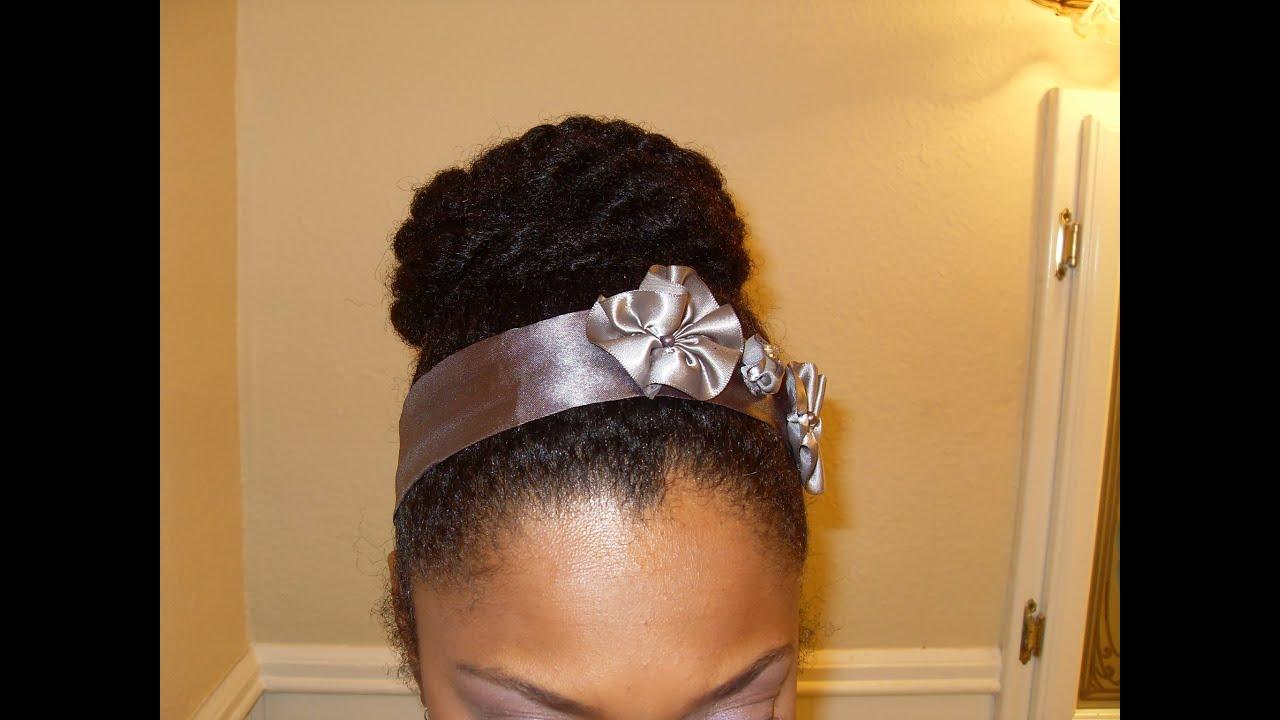 Youtube Hair Style: High Bun Protective Style No Gel {Natural Hair} ♀21