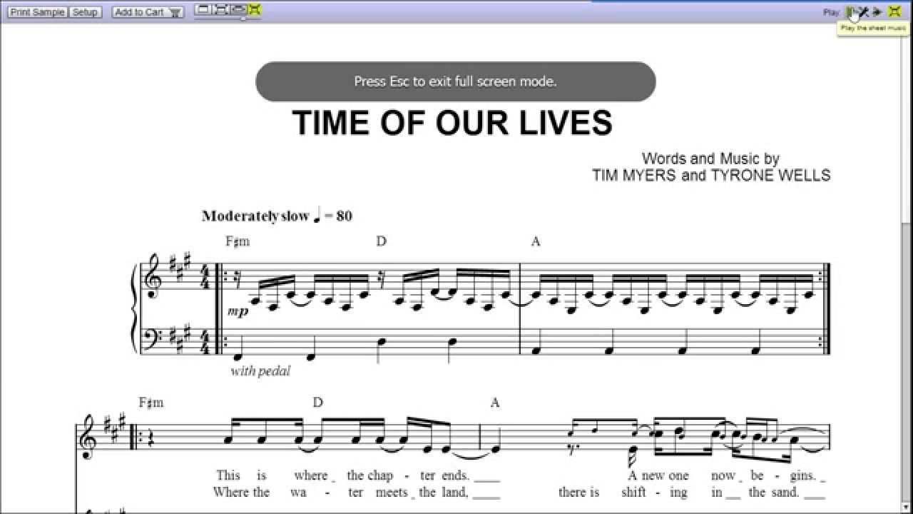 time of our lives lyrics