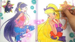 "Children's Toys ❤ Coloring for Winx ""MUSA AND STELLA"" Winx Club Coloring"