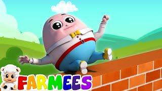 humpty dumpty sat on a wall | nursery rhymes Farmees | kids songs | baby rhymes