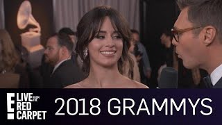 Camila Cabello Runs Into Nick Jonas at the 2018 Grammys | E! Red Carpet & Live Events