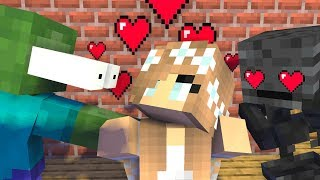 Monster School : Valentine's Day | Zombie LOVE GIRL - Minecraft Animation