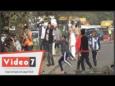 بالفيديو  الأمن يفض مظاهرات الإخوان فى جسر السويس بالغاز