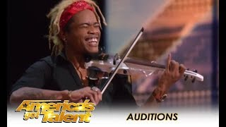 """Brian King Joseph: Viral Violinist Known As """"The King Of Violin"""" WOWS!   America's Got Talent 2018"""