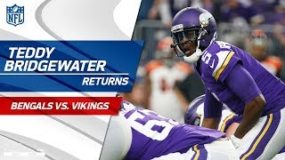 The Return of Teddy Bridgewater & the Crowd Goes Wild! | Bengals vs. Vikings | NFL Wk 15 Highlights