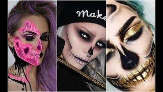 Calavera Glam | Skull Glam 💀TOP INCREÍBLES MAQUILLAJES 💀💀 Best Halloween Makeup #1