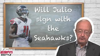 Does John Clayton 'The Professor' think Julio Jones will sign with the Seahawks?