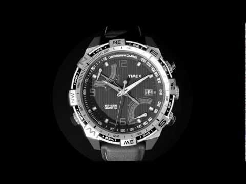 Timex Iq Fly Back Compass Chrono Black